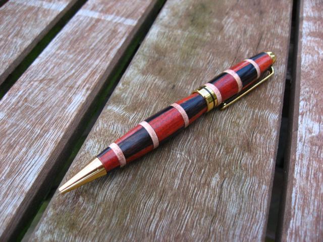 Bloodwood and Blackwood Gold Designer Style Pen