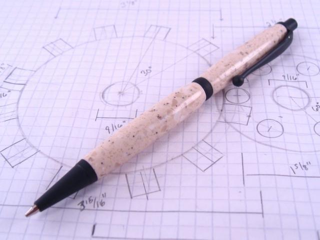 Black Enamel Corian Click Pencil