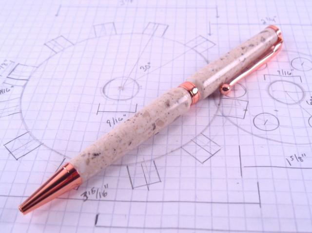 Copper Fun Line Slim Corian Pen