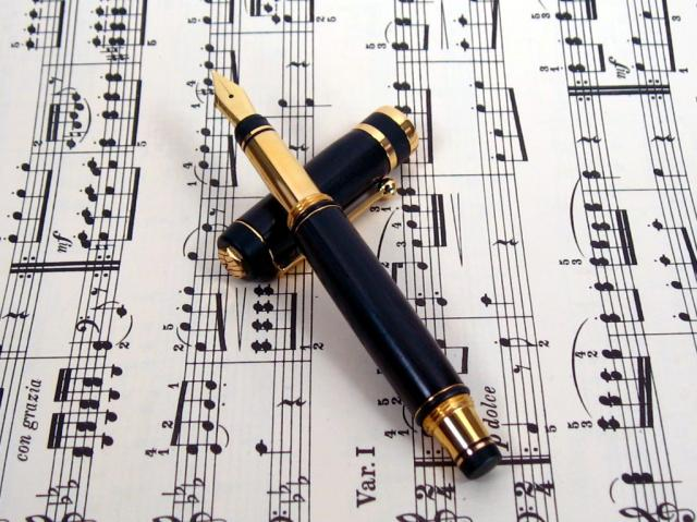 Capri 24kt Gold Fountain Pen with African Blackwood