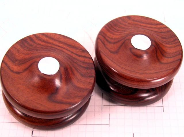Bolivian Rosewood Yo-Yos with Chrome Fittings