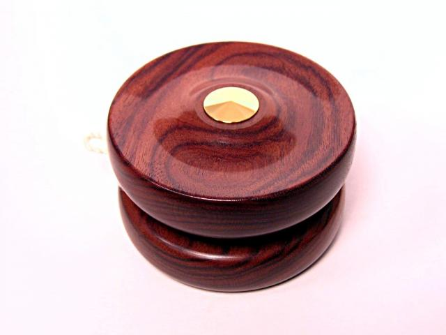 Bolivian Rosewood Concave Profile Yo-Yo with Gold Plated Fittings