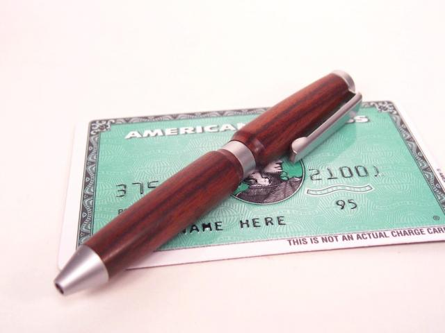 Credit Card Satin Ballpoint Pen in Bolivian Rosewood