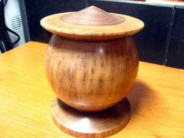Chinese Hat Box in Black Walnut
