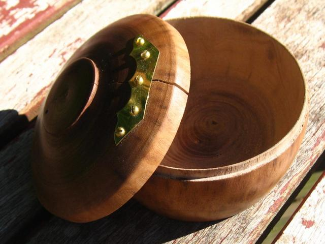 Walnut Container with Lid