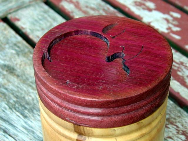Applewood and Purpleheart Container