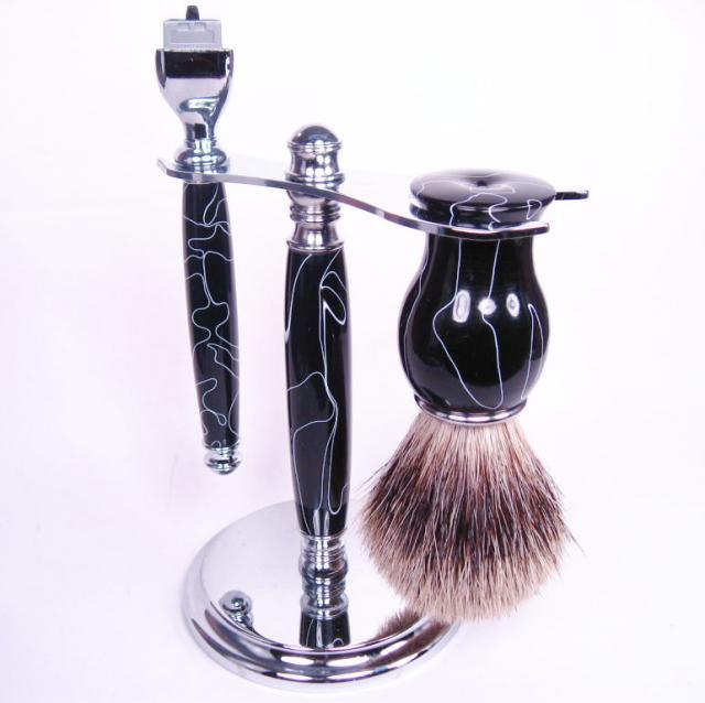 Acrylic Shaving Set