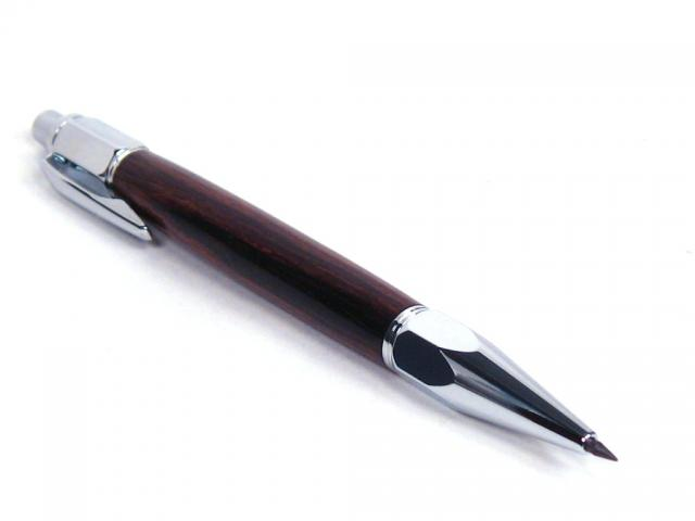 Vertex Chrome Click Pencil with African Blackwood